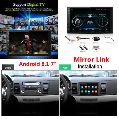 "7"" Android 8.1 2Din Car Stereo Radio GPS Player Quad-Core 1+16G Wifi BT DAB OBD"