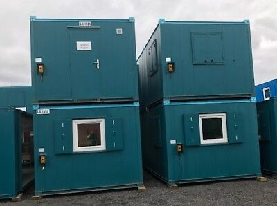 32ft x 10ft grade A Anti Vandal Office open plan painted grey blue or Green