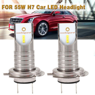 2PZ H7 110W 6000K LED Kit faro 26000 LM Auto Day Running Luce CSP Chip lampadine