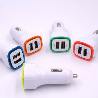 2X 2.1A LED USB Dual 2 Port Adapter Socket Car Charger for iPhone/Samsung/HTC AU