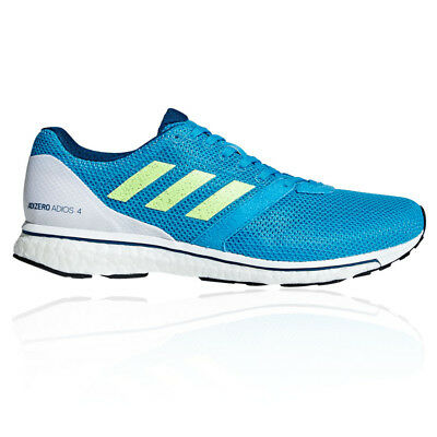 adidas Mens Adizero Adios 4 Running Shoes Trainers Sneakers Blue White Sports