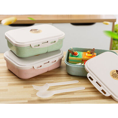 Sealed Plastic Lunch Box Portable Three Compartment Lunch Boxs Buckle Canteen