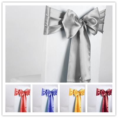 Pleasing 5 100Pcs Taffeta Chair Cover Satin Sashes Bow Wedding Party Onthecornerstone Fun Painted Chair Ideas Images Onthecornerstoneorg