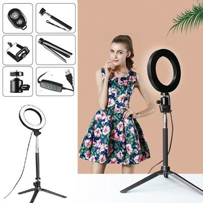 """5-in-1 8"""" LED Light with Stand Lighting Kit camera light for Youtube Live Makeup"""
