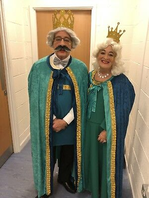 Pantomime, stage, theatre king and queen costumes