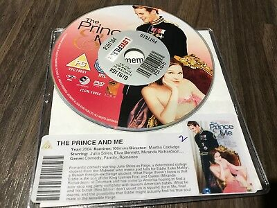 Prince And Me (DVD, 2005) DISK ONLY