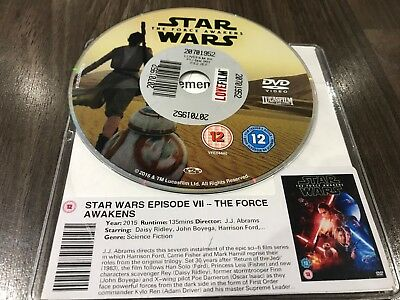 Star Wars Episode VII - The Force Awakens (DVD, 2015) DISC ONLY