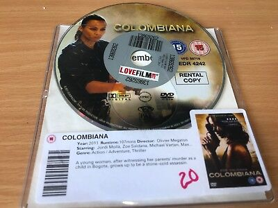 Colombiana (DVD, 2012) DISC ONLY