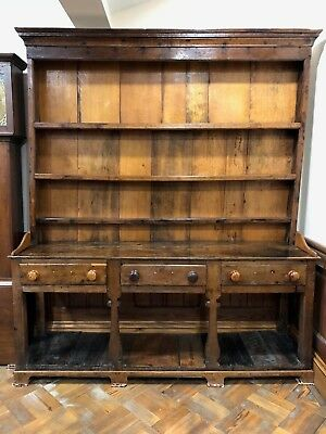 Antique Early Welsh Oak Potboard Dresser - Delivery Available