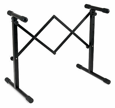 Adjustable Keyboard Mixer DJ Stand Booth Heavy Duty Portable Black Steel