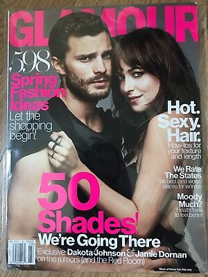 Fifty Shades Dakota Johnson Jamie Dornan Glamour Magazine - NEW - Offers Welcome