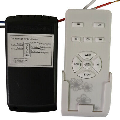 Universal Ceiling Fan Lamp Timing Wireless Control Remote Control Kit 97-124V