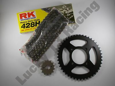 RK Chain and JT sprocket 14T front 38T rear kit for Yamaha YBR125 07-15