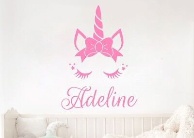 Personalized Name Unicorn S Vinyl Wall Art Decal Kids