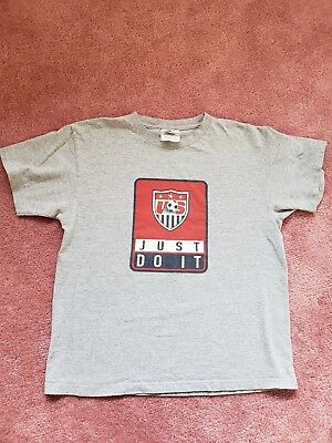 e5760e45dcda8 VINTAGE NIKE T-SHIRT Just Do It Size Large 90s Swoosh Made In USA ...
