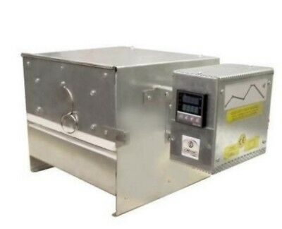 Bead-door programmable kiln for lampwork, glass fusing, annealing enamelling