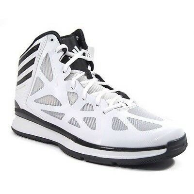 new style 513a2 b8fd8 Adidas Crazy Shadow 2 Mens White and Black High Top Basketball Shoes SZ 17  NEW