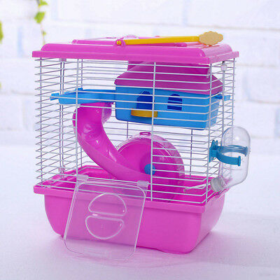 1Pc Hamster Cage Creative Acrylic Portable Villa Cage Pets House for Small Pets