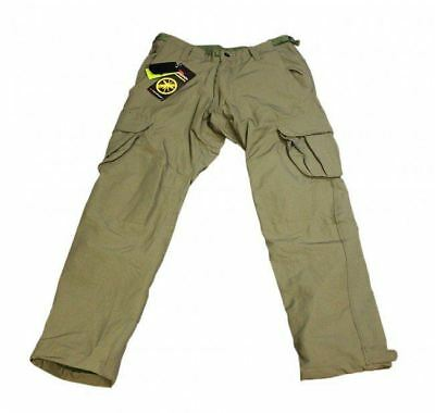 Korda Polar Kombats - Dark Olive Fleece Lined Carp Fishing Trousers - All Sizes