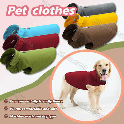 Warm Pet Dog Fleece Harness Vest Jumper Sweater Coat Small Medium Jacket Clothes