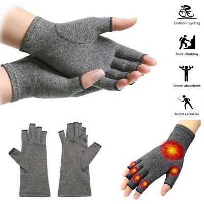 Anti Arthritis Copper Fingerless Gloves Compression Therapy Circulation Support
