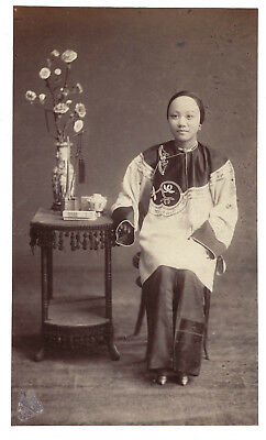 Original antique photograph of Chinese Lady (Hong Kong/China) by Mee Cheung