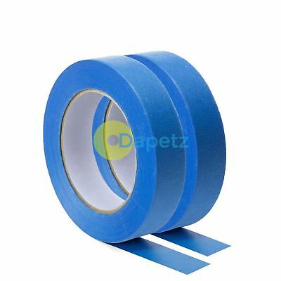 Blue Masking Tape Clean Peel UV Resistant Painters/Decorators 24mm x 50m