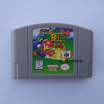 Nintendo N64 Game: Super Mario 64 Video Game Card US/CAN Version