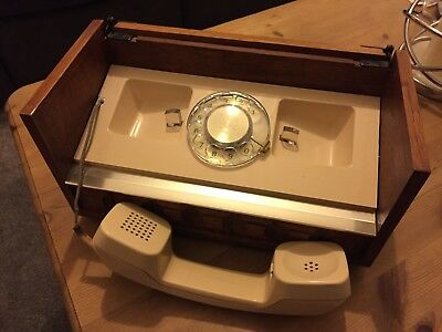 Western Electric Vintage American Wooden Case Dial Telephone '70s - Working