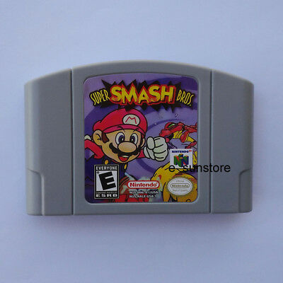 Nintendo N64 Game: Super Smash Bros Video Game Card US/CAN Version