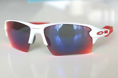 35aab867b2 Oakley Flak 2.0 XL Sunglasses OO9188-21 Polished White W  Positive Red  Iridium