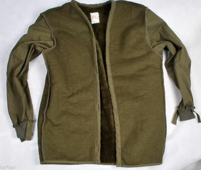 Dutch Army Surplus Jacket Liner Pile Fur Winter Cold weather Thermal Base