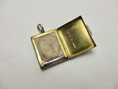 Rare Victorian Birmingham 1898 Sterling Chatelaine Silver Stamp Case Holder