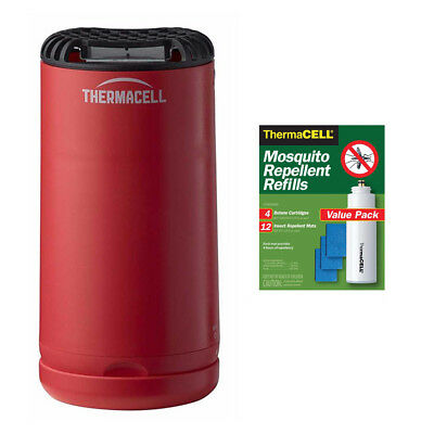 Thermacell Patio Shield Mosquito Repeller (Red) with 48-Hour R-4 Refill Pack