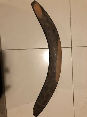 An Early Antique Hand Carved Australian Aboriginal Boomerang