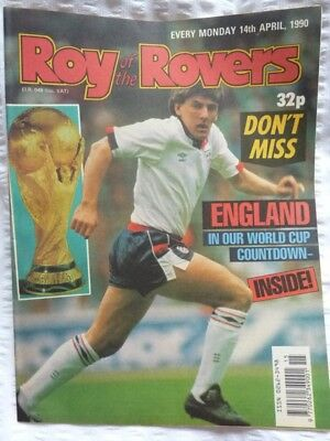 Roy of the Rovers Comic 14 04 1990 Exc