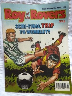 Roy of the Rovers Comic 07 04 1990 Exc