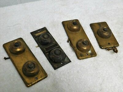 Vintage 4 piece brass dual single door bell selection !!!!!