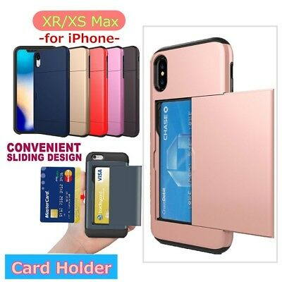Slide Spacious Credit Card Slot Holder Case Phone Shell For iPhone6/7/8/X/XsMax