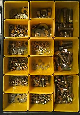 Citroen DS21 ID19 SM Gold Zinc Plated Hardware Nut Bolt Washer Kit - 345 Pieces