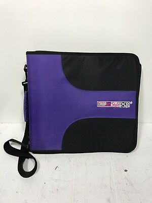 Crop in Style PSB Zipper Scrapbook Purple Storage Binder Tote 24 Refill Pages