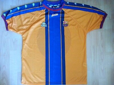 d6f98dc9a Vintage Official Kappa Barcelona FC Away 1997-1998 Football Shirt (L) Spain  MINT