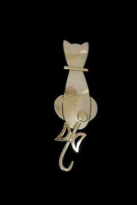 Two Tone Sterling Vintage CAT Pin Laton TP97 Mexico