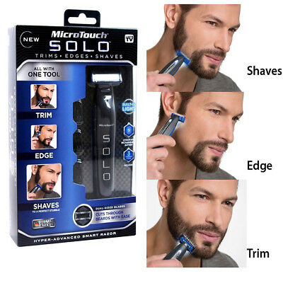 MicroTouch Micro Touch SOLO Rechargeable Razor Shaver&Trimmer Buit in LED Light