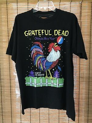 Vintage 1990's Greatful Dead Shirt L Brockum Year Of The Rooster Jerry Garcia