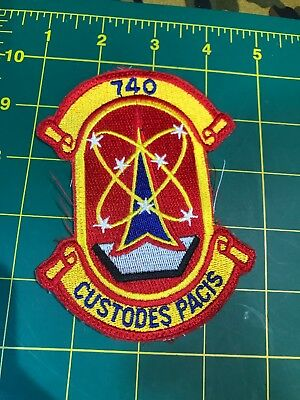 MILITARY PATCH AIR FORCE 740TH MISSILE SQUADRON - OLDIE CUSTODES PACIS Free Ship