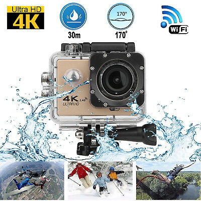 4K WIFI Remote Action Camera 1080P HD 16MP Waterproof Sports DV Camera for GOPRO