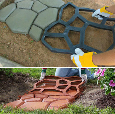 TOUGH BRICK Plastic Paving Stone Mold Resembling A Red Brick For