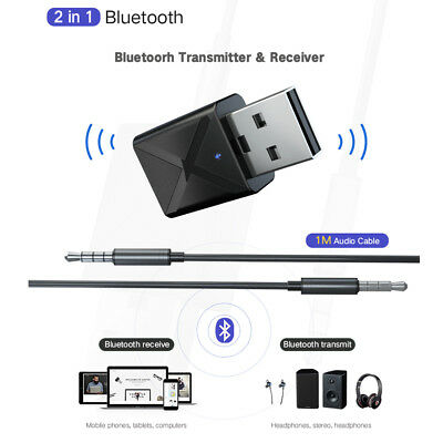 2 in 1 Bluetooth 5.0 Transmitter and Receiver 3.5mm AUX Wireless Audio Adapter