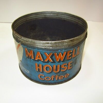 Vintage Maxwell House Coffee Can No Lid